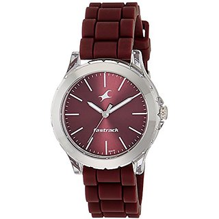 Fastrack Trendies Analog Red Dial Womens Watch-68009PP06