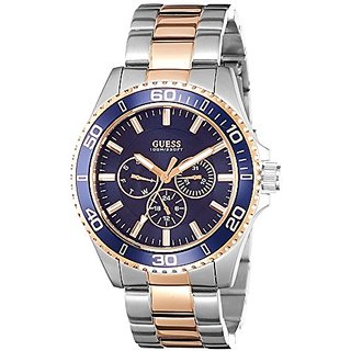 Guess Analogue Blue Dial Mens Watch (W0172G3)