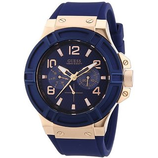 Guess Analog Blue Dial Mens Watch - W0247G3