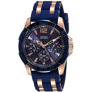 Guess Analog Blue Dial Mens Watch - W0366G4