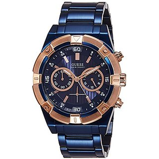 Guess Chronograph Blue Dial Mens Watch - W0377G4