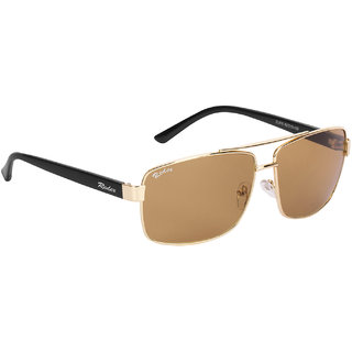 Redex Brown Rectangle Sunglasses ( 1373 )