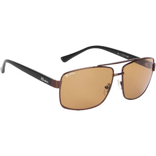 Redex Brown Rectangle Sunglasses ( 1374 )