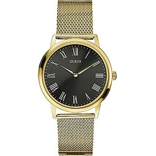 Guess W0406G6Mens DressStainless SteelGold-ToneBlack DialWR