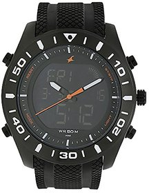 Fastrack Analog-Digital Black Dial Mens Watch-38034np01