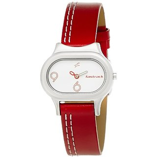 Fastrack Analog White Dial Womens Watch - NE2394SL01