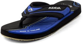 ADDA COMFORTABLE BLACK / BLUE COLOR FLIPFLOPS FOR MEN