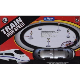 Shribossji High Speed RC Train Toy With Flyovers And Track For Kids (Multicolour)