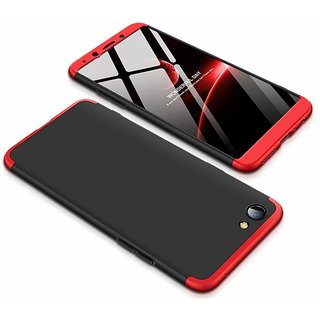 MOBIMON OPPO Realme 1 Front  Back Case Cover Original Full Body 3-In-1 Slim Fit Complete 3D 360 Degree Protection Hybrid Hard Bumper (Black  Red) (LAUNCH OFFER)