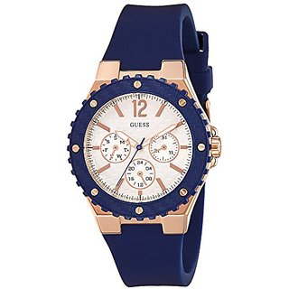 Guess Analog Silver Dial Womens Watch - W0149L5