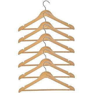 M-I-N-D-E-R New Best Quality Beautiful,Smart, Wonderful Wooden Hangers ( Set Of 6 Pcs. )