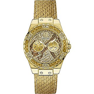 Guess Gold Patterned Dial Womens Watch-W0775L13