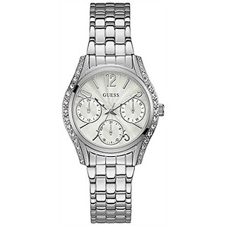 Guess Prima White Dial Multi-function Womens Watch-W1020L1