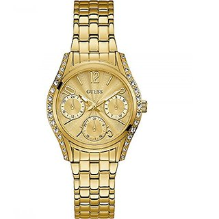Guess Gold Dial Multi-function Womens Watch-W1020L2