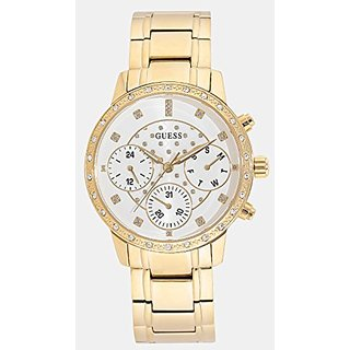 Guess White Dial Multi-function Womens Watch-W1022L2