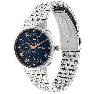Titan Ladies Neo-Ii Analog Blue Dial Womens Watch-NK2569SM01