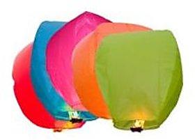 skycandle Sky Lanterns - Pack of 5 Diwali Sky Lights Multi Color Gifts