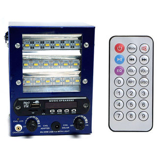 Sahi Speaker with FM USB AUX SD Card With 18 SMD Led Light powerful battery chargeable Bass Rechargeable Battery