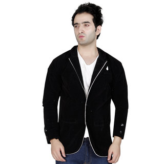 Conway Solid Single Breasted Wedding, Casual, Party, Festive Men's Blazer  (Black)