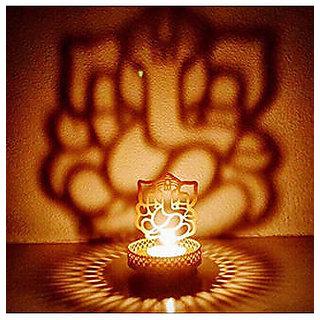 BANQLYN Shadow Ganesh Ji Tea Light Holder