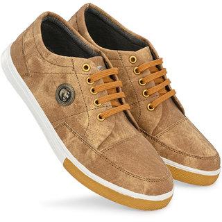 BRK Footwear Tan denim canvas shoes