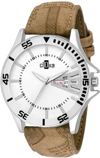 Cloxa Analog White Dial Men watch