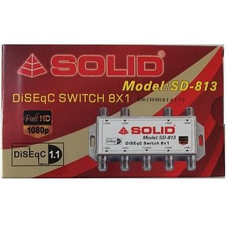 SOLID SD-813 DiSEqC 1.1 Switch - 8in1