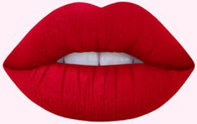 Hot red lipstick liquid matte