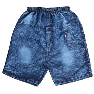 SHAURYA Short For Boys Cotton Linen Blend, Cotton Nylon Blend, Cotton Linen Blend (Blue Patch, Pack of 2)