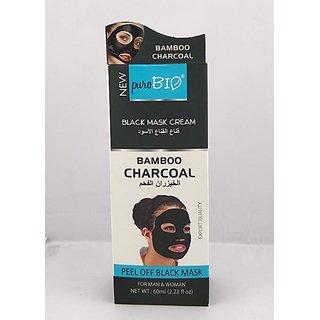 Puro Bio Black Face Mask Gel 60 ml For Men, Women