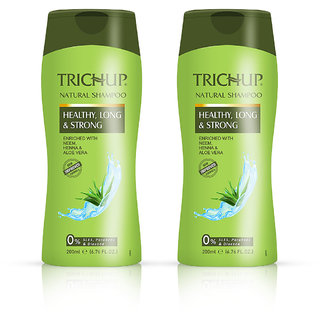 Trichup Healthy Long  Strong Herbal Hair Shampoo ( 200 ml x 2) (Pack of 2)