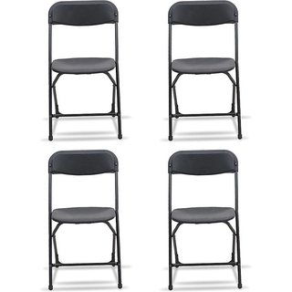 Supreme Amity Plastic Living Room Chair Set Of 4(Finish Color - Black)