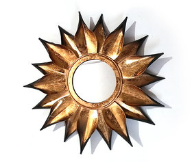 Antique Gold Colour Design Mirror for Wall Hanging, Home and Office Decor.