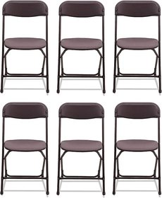 Supreme Amity Plastic Living Room Chair Set Of 6 Finish Color   Brown
