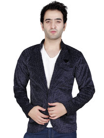 Conway Solid Single Breasted Wedding, Casual, Party Men's Blazer  (Blue)