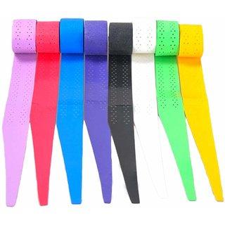 Quinergys Multicolor-17 - Racket Grip Anti Slip Perforated Super Absorbent Tennis Overgrip Badminton Overgrip