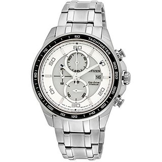 Citizen Eco-Drive Analog White Dial Mens Watch CA0341-52A- 23 cm
