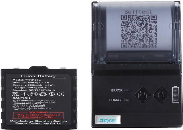 Everycom EC200 Mini Direct Thermal Printer Portable Receipt Machine 2000  mAh Black