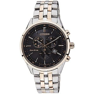 Citizen Eco-Drive Analog Black Dial Mens Watch - AT2144-54E