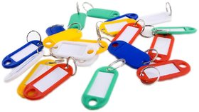 DY 8Pcs Plastic Key Tags Assorted Key Rings ID Tags Name Card Label