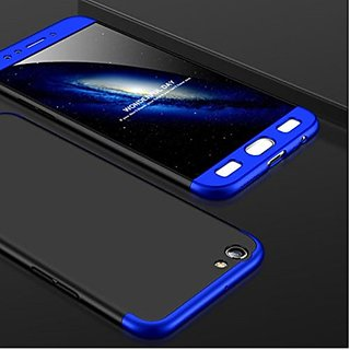 MOBIMON VIVO Y53 Front Back Case Cover Original Full Body 3-In-1 Slim Fit Complete 3D 360 Degree Protection Hybrid Hard Bumper (Black Blue) (LAUNCH OFFER)