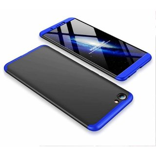 MOBIMON VIVO Y71 Front Back Case Cover Original Full Body 3-In-1 Slim Fit Complete 3D 360 Degree Protection Hybrid Hard Bumper (Black Blue) (LAUNCH OFFER)
