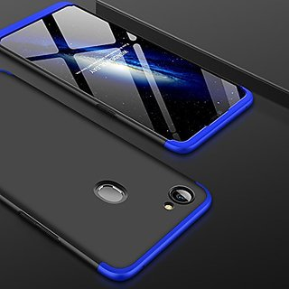 official photos 5264f 88745 MOBIMON OPPO F7 Front Back Case Cover Original Full Body 3-In-1 Slim Fit  Complete 3D 360 Degree Protection Hybrid Hard Bumper (Black Blue) (LAUNCH  ...
