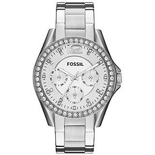 Fossil Riley Analog Silver Dial Womens Watch - ES3202