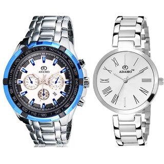 Adamo Designer Date Display Combo Wrist Watch 307SM012480SM01