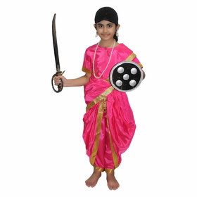 Kaku Fancy Dresses Rani Laxmi Bai National Hero/freedom figter Costume For Kids Independence Day/Republic Day/Annual function/theme party/Competition/Stage Shows Dress