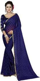 Bhuwal Fashion Multicolor Chiffon Dotted Saree With Fancy Blouse