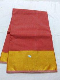 Bengal Silk Cotton Saree Zari Border Chenderi New Saree Double Side Border Uppada Chenderi Silk Saree