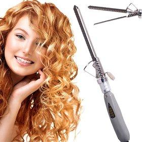 Hair Curler - Hair Styler - Electric Hair Curler - V  G 228, Long Rod (Grey)