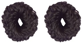 GaDinStylo Fancy Rubber Juda Hair Band For Women And Girls  Juda Accessories For Women Set Of 2 (Black)